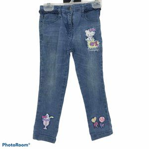 CharmmyKitty kitten printed toddler jeans